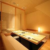 上質な完全個室空間です。