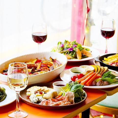 【24時間営業★カフェレストラン】世界の料理とビール・ワインが楽しめます