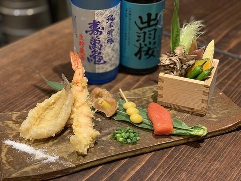 『こだわりの肉だしの肉おでん』『揚げたての天ぷら』『厳選 日本酒』