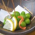 【季節のアラカルト一例】銀杏の素揚げ 580円 ※内容は仕入れによって変わる場合がございます