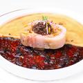 料理メニュー写真フォアグラのショーフロワ モリーユ茸のジュレとロワイヤル