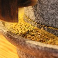 石臼で挽いた和風スパイスで作るかしわキーマカレー