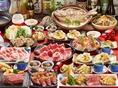 季節で変わる宴会コースは旬の食材や贅沢食材をふんだんに使用した大満足のラインナップ!!