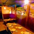 ロフト下のテーブル席は仲間とワイワイ宴会にピッタリな半個室【宴会/相模大野】