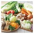 しゃぶしゃぶ温野菜では、しゃぶしゃぶに合う野菜を求め、全国の農家さんと直接話し合って生まれた新鮮野菜を使用しています。お野菜は盛り合わせ以外にもお好きなものを単品でご注文いただけます。採れたての旨みがつまったお野菜をお楽しみ下さい!