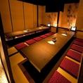 ゆったりした個室席を完備しております◎少人数~団体様までご利用可能なお席をご用意しておりますので小規模な宴会をはじめ大規模な宴会にも◎お気軽に当店までお問い合わせください。