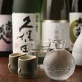 季節ごとに日本各地から集めたこだわりの地酒をご提供します。お気に入りを見つけて下さい