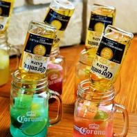 充実のオシャレドリンク♪レインボービール!