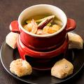 料理メニュー写真★海老と有機野菜のアヒージョ
