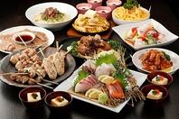 各種宴会のできる落ち着いた空間とこだわりのコース料理
