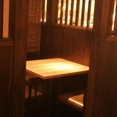 接待やデートに最適な2名テーブル個室