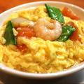 料理メニュー写真エビ・ホタテ・トマトのふわふわ卵炒め