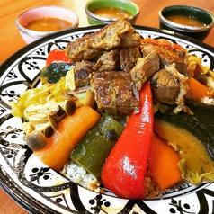 7種の野菜と牛肉のクスクスの写真