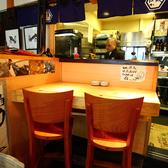鮮魚が職人の腕で見事にさばかれる様子を楽しみながらお食事できる特等席。