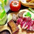 肉バルは赤身の味を美味しく頂けます。