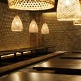 最大50名様収容可能な大型個室。会社の飲み会、同窓会等に最適です。
