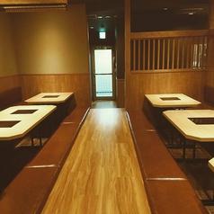 小上がり席の4人様用が5席。6人様用が1席を全席ご利用すると最大26名様まで個室として大宴会ができます!