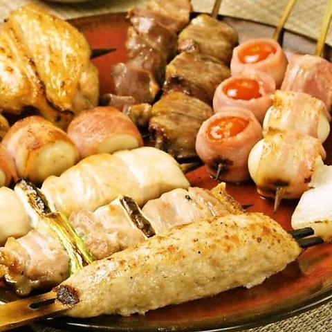 【池袋東口徒歩3分】老舗串焼き屋の味をお楽しみ下さい!2時間飲み放題付コース4000円