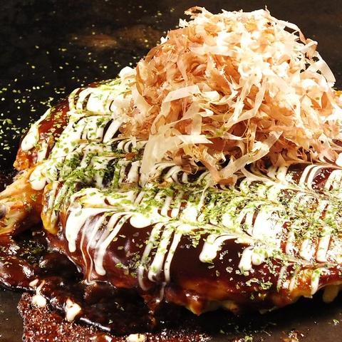 昭和28年創業のお好み焼の名店!粉や水、ヨード卵、ソースとこだわったお好み焼を
