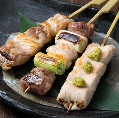 比内地鶏 串焼き3種盛り合せ