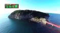 【雄島の風景2】観光名所の東尋坊からも良く見える。 雄島(おしま)は「神の島」ともよばれ、地元の信仰厚い島です。