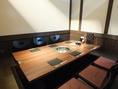 掘りごたつタイプの小上がり個室を7部屋ご用意しております。