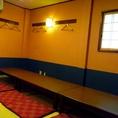 完全個室のお座敷とご宴会スペースもあるので、シーンに合わせて掘りごたつとお座敷とで選べる。