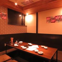 餃子家龍では珍しい個室もご用意!7名様までOKです!掘りごたつになっているので長い時間ゆっくりとお楽しみ頂けます!