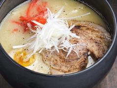 料理メニュー写真自家製トライアングル鶏白湯ラーメン