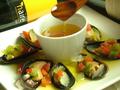 料理メニュー写真ムール貝のサラダソースがけ