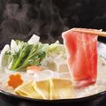 料理メニュー写真湯豆腐と豚の豆乳しゃぶしゃぶ