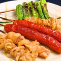 料理メニュー写真串焼き盛り合わせ(8本)