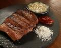 料理メニュー写真厚切り牛タンの炭焼き 3種ソース