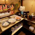 食べ放題にお付けしている「フードバー」は、ご飯や味噌汁をはじめ、カレー、キャベツ、スパ皿、キムチなどがお替わり自由の嬉しいサービスです♪