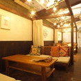 全席半個室のソファー席は雰囲気良好です♪ゆったりと過ごせるプライベート空間になっております!