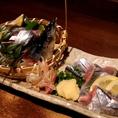 旬を味わえる料理を多数ご用意!魚はもちろん野菜までその時一番美味しいものが揃っています!