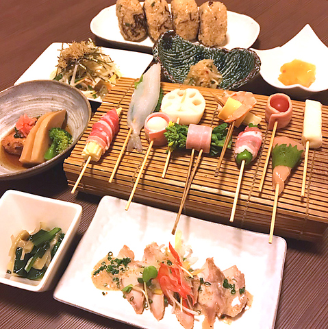 【串揚げ10本コース】料理9品+2H飲み放題4000円