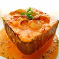 料理メニュー写真シーフードのトマトクリームパスタ ~黒糖BOXの中に~