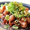 料理メニュー写真鶏ホルモン炭火焼き タレ