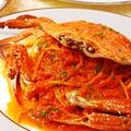 料理メニュー写真ワタリガニのトマトクリームパスタ