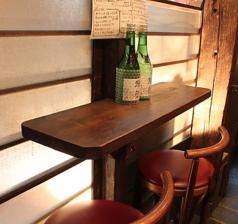 1階<カウンター×2席>ございます。お一人でしっぽり飲みたい方におすすめのカウンター席♪