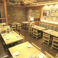 【新宿西口】明るく広々とした空間でのテーブル席★