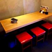 【最大6名様】まで着席可能なテーブル席。
