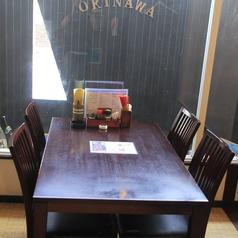 広々としたテーブル席。ゆったりご利用下さい。