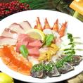 新鮮鮮魚のカルパッチョ盛り合わせ