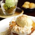 料理メニュー写真デザート3種盛り/みたらしバニラ/焼きリンゴ