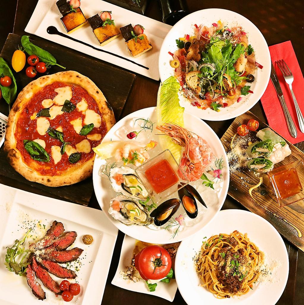 産地直送のこだわりの食材をふんだんに使用したグラッツェ特製コースは2500円~ご用意♪