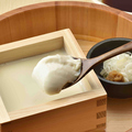 料理メニュー写真【北海道産豆乳オホーツクにがり使用】いろはの出来立て湯豆腐