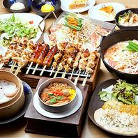 食べ飲み放題と豊富なコース