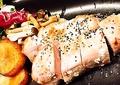 料理メニュー写真豚ロースサイコロステーキ